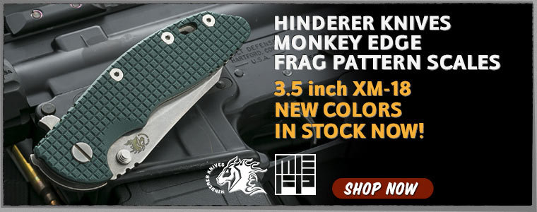 Hinderer Knives Monkey Edge FRAG Pattern Scales
