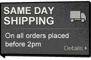Same Day Shipping - On all orders placed before 2pm